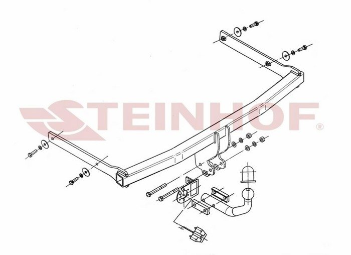 Gancio traino V-072 VW Golf V Kombi 2007-2009
